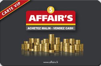 carte de fidélité pour les magasins Affair's