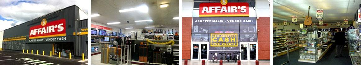 Présentation des magasins Affair's